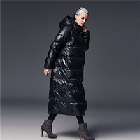 2016 new european long brand design new winter oversized parka hood parkas jackets and coats plus size puffer women with down