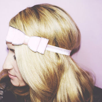 Shimmer Pink Bow, Bow Accessories, Bow headband, Women's Accessories