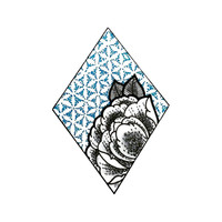 Geometry Meets Flower Tattoo Design - Momentary Ink