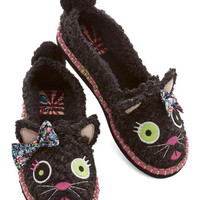 ModCloth Quirky For Feet's Sake Slippers in Cat