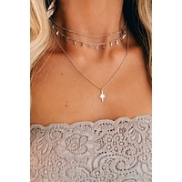 Showing Off Layered Necklace (Silver)