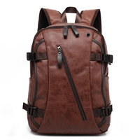 Men's Casual leather Backpack