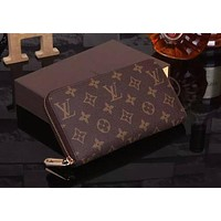 Best Gifts Louis Vuitton Clutch Bag Wristlet LV Classic Women Leather Print High Quality Wallet Purse