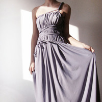 Smoky Lavender grecian Convertible dress with by WhimsyTime