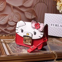 Furla Women's Leather Hello Kitty Inclined Chain Shoulder Bag #5531 - Best Deal Online