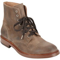 Oiled Lace-Up Boot