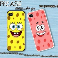 Spongebob and Patrick Star Face Case For Iphone 45Samsung S234 by pfcases12 on Zibbet