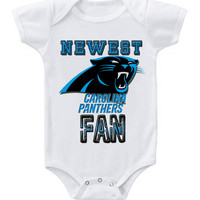 NEW Football Baby Bodysuits Creeper NFL Carolina Panthers