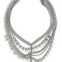 Disc Statement Necklace