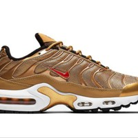 Nike Air Max 97 Trending Women Men Casual Sport Running Shoe Sneakers Metal Gold I