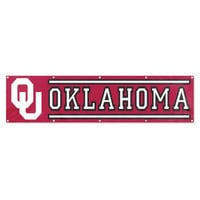 Oklahoma Sooners NCAA Applique & Embroidered Party Banner (96x24)
