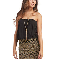 Glitter Chevron Party Dress | Wet Seal