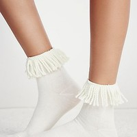 Hansel From Basel Womens Tassel Crew Sock