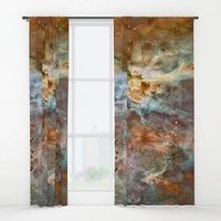 """Window curtains - Single or Double panel, 50""""x84"""" each, Home, Decor, Bedroom, Kitchen, Style, Beige, Gray, Space, Designer, Abstract, Modern"""