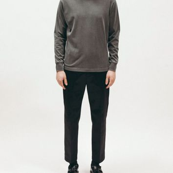 Natural Dyed Block LS Jersey Charcoal