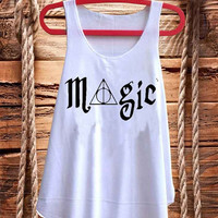 Magic Deathly Hallows Harry Potter best design for Tank top mens and Tank top Girls fashion