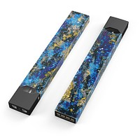 Abstract Blue Wet Paint - Premium Decal Protective Skin-Wrap Sticker compatible with the Juul Labs vaping device