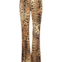 Hysteria Leopard Animal Print Flared Bell Bottom Pants