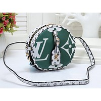 LV hot sale print matching color round shopping bag fashion casual lady shoulder bag #2