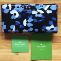 NWT Authentic Kate Spade Cedar Street Floral Lacey Wallet Clutch Blue Wallet