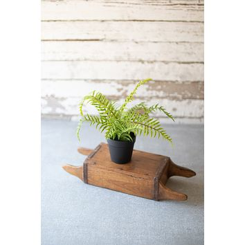 Set Of 4 Artificial Potted Ferns