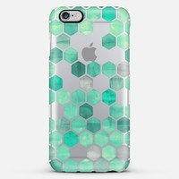 Mint Green Crystal Hexagon Watercolor Pattern iPhone 5s case by Micklyn Le Feuvre   Casetify