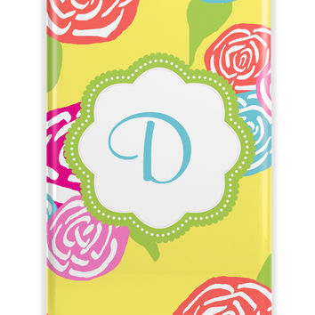 PRETTY RETRO FLORAL - GIRL'S MONOGRAMMED PHONE CASE