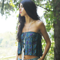 Paisley Boho Tube Top.