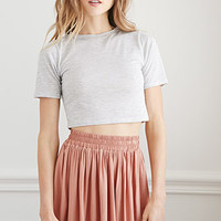 Shirred Waist Mini Skirt