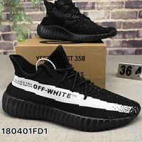 Off-White x Adidas Yeezy Boost 350V2 Sneakers Sport Shoes B-CSXY
