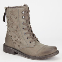 Roxy Croswell Womens Boots Olive  In Sizes