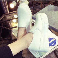 2015 Spring autumn fashion women platform shoes woman flats loafers muffin thick soled sneakers canvas espadrilles creepers ev