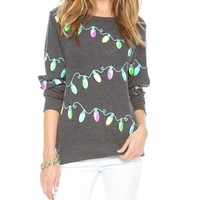 Glowing Lights Baggy Beach Jumper