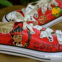 Customized Converse All Star Low Top - YOUTH - Jake and the Neverland Pirates