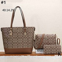 COACH Tide brand women's shopping bag handbag shoulder bag three-piece #1