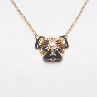 Pug Life Pendant Necklace | Wet Seal