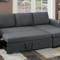 Reversible Sectional Sofa With Sleeper & Storage F6931