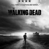 Walking Dead poster Metal Sign Wall Art 8in x 12in Black and White