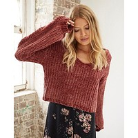 Somedays Lovin - Sweet Skies Chenille Jumper in Apricot