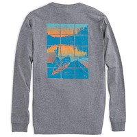 Lakeside Long Sleeve Tee Shirt in Steel Grey by Southern Tide