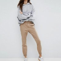 ASOS Skinny Chino Pants with Roll Up at asos.com