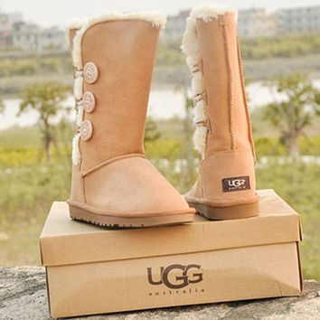 UGG female fashion wool snow boots wool shoes-4
