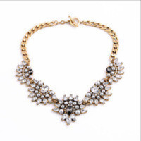 J Crew Designs Stacked Crystals Pearls Statement Necklace