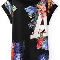 Personalized Floral Tee - OASAP.com