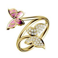 Look like Butterfly sterling silver wedding Ring For Her with free ship