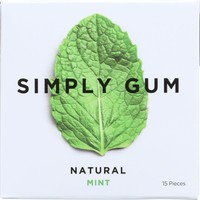 Simply Gum Natural Chewing Gum Mint - 15 Pieces