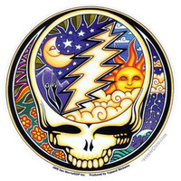 Grateful Dead - Day & Night Steal Your Face Bumper Sticker on Sale for $2.99 at HippieShop.com