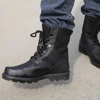Black Military Tactical Boots Mens Army Hiking shoes Men Sapato Masculina Outdoor Hunting Mountain Boots Combat Chaussure Homme
