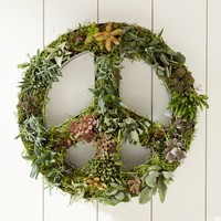 Novelty Planter, Hanging Peace Sign
