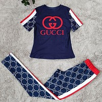 GUCCI Women With short sleeves Top Pants trousersTwo-Piece
